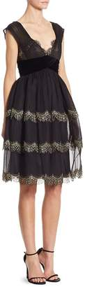 Alberta Ferretti Women's Silk Lace Dress