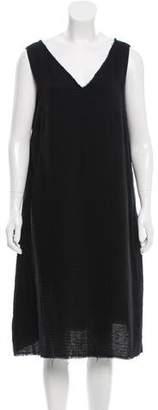 Yang Li Shift Raw-Edge-Trimmed Dress