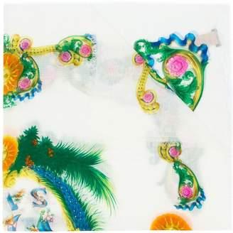 Versace exotic print scarf