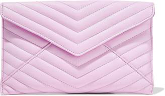 Rebecca Minkoff Leo Quilted Textured-leather Clutch