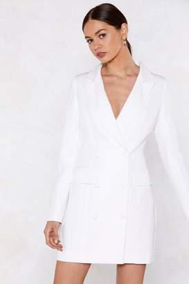 Nasty Gal Powers That Be Blazer Dress