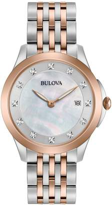 Bulova Ladies' Diamond Accent Two-Tone Watch