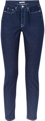 GRLFRND Karolina High-rise Skinny Jeans - Dark denim