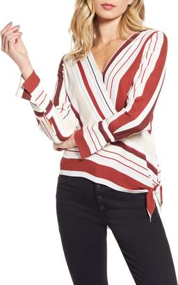 Chelsea28 Stripe Side Tie Top