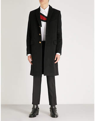 Givenchy Single-breasted wool and cashmere-blend overcoat