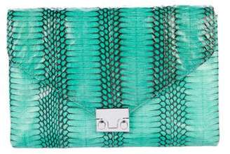 Loeffler Randall Snakeskin Junior Lock Crossbody