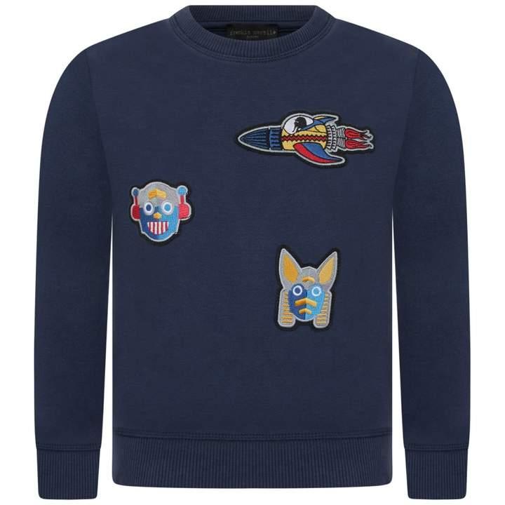 Frankie MorelloBoys Navy Applique Sammy Sweater