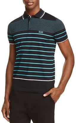 BOSS Green Paule 2 Stripe Slim Fit Polo Shirt $125 thestylecure.com