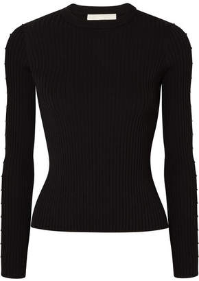 Jonathan Simkhai Cutout Ribbed-knit Sweater - Black