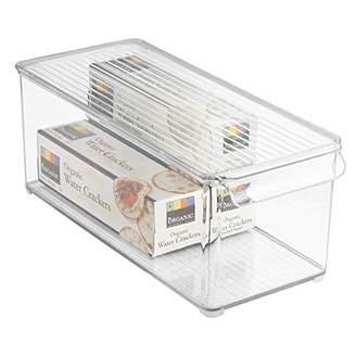 InterDesign Refrigerator and Freezer Storage Organizer Bin for Kitchen with Lid