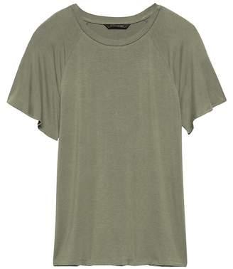Banana Republic Soft Stretch Flutter-Sleeve T-Shirt