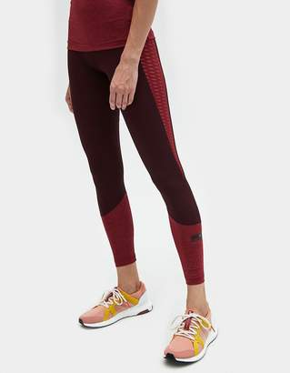 adidas by Stella McCartney Training ULT Tight in Dark Burgundy/Legend Red