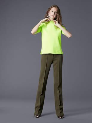 Diane von Furstenberg Short-Sleeve Mock Neck Pull Over