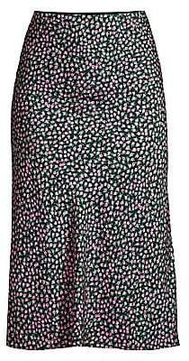 Rebecca Taylor Women's Wild Rose Silk Blend Skirt