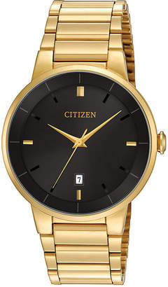 Citizen Quartz Citizen Mens Gold-Tone Stainless Steel Watch BI5012-53E