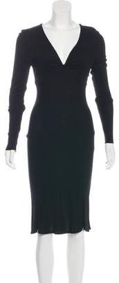 Versace Long Sleeve Midi Dress