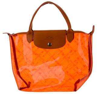 Longchamp Leather-Trimmed PVC Tote
