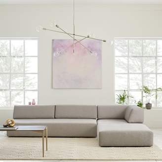 west elm Tillary® 6-Piece Sectional - Feather Gray (Chenille Tweed)