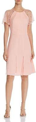 Adrianna Papell Cameron Lace-Panel Dress