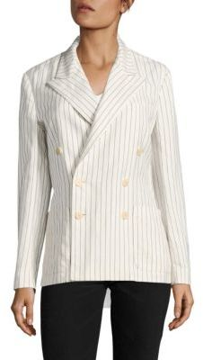 Polo Ralph Lauren Striped Double-Breasted Blazer $598 thestylecure.com