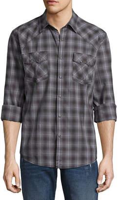 Decree Long Sleeve Ombre Button-Front Shirt