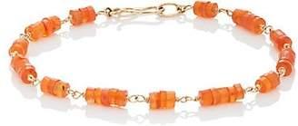 Dean Harris Men's Orange Carnelian Beaded Bracelet - Orange