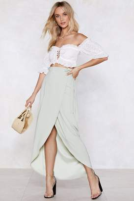 Nasty Gal We Like Wraps Midi Skirt