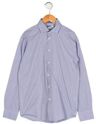 DKNY Boys' Stripe Button-Up Shirt