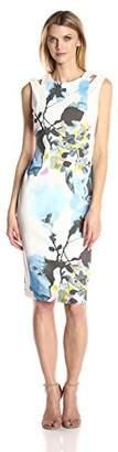 Julian Taylor Women's Floral Sheath Dress with Cut Out Shoulders