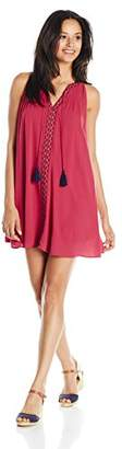 My Michelle Women's Circle Neck Dress with Embroidery