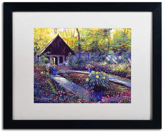 "David Lloyd Glover 'Blue Garden Impression' Matted Framed Art - 16"" x 20"""