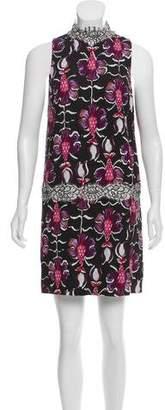 Wes Gordon Lace-Trimmed Mini Dress