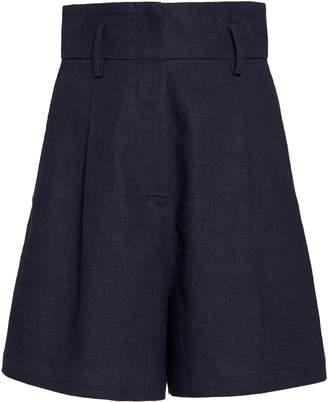 ST. AGNI Ranger Linen-Blend Shorts Size: XS
