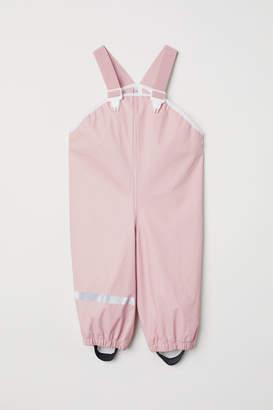 H&M Rain Pants with Suspenders - Pink