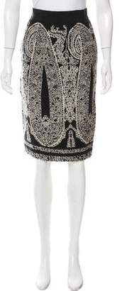 Giambattista Valli Embroidered Knee-Length Skirt