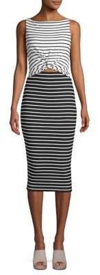 Bailey 44 Rabbit Hole Striped Bodycon Dress