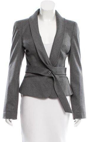 Alexander McQueenAlexander McQueen Wool Belted Blazer