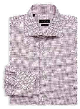 Saks Fifth Avenue COLLECTION Gingham Cotton Dress Shirt