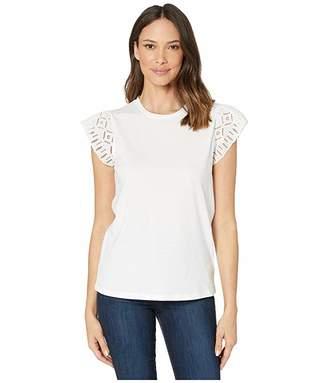 MICHAEL Michael Kors Lace Sleeve T-Shirt