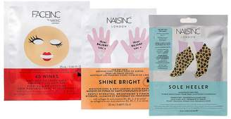 Nails Inc 40 Winks, Shine Bright And Sole Healer Face Hands & Feet Trio