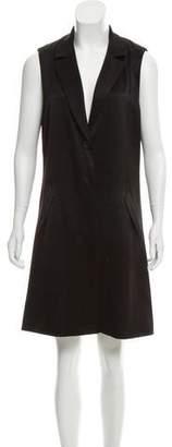 Alice + Olivia Sleeveless Tuxedo Dress