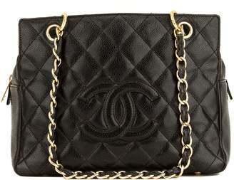Chanel Caviar Black PST Petite Tote Leather Handbag (4078008)