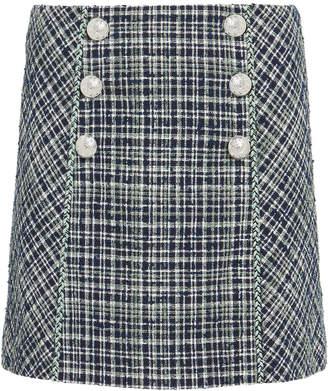 Veronica Beard Stark Tweed Mini Skirt