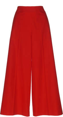 DELPOZO Pleated Cotton Pants