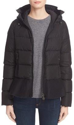 Women's Moncler Nesea Peplum Hem Down Puffer Jacket $1,175 thestylecure.com