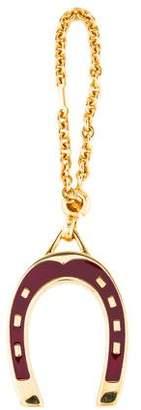 Gucci Enameled Horseshoe Keychain