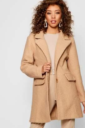 boohoo Teddy Faux Fur Boyfriend Coat