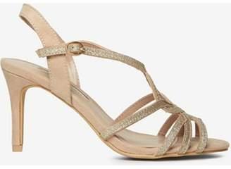 Dorothy Perkins Womens Nude Bounty Glitter Heels Sandals