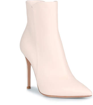 Gianvito Rossi Levy 105 Offwhite Leather Booties
