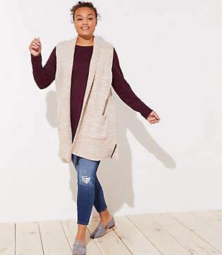 LOFT Plus Pocket Sweater Vest